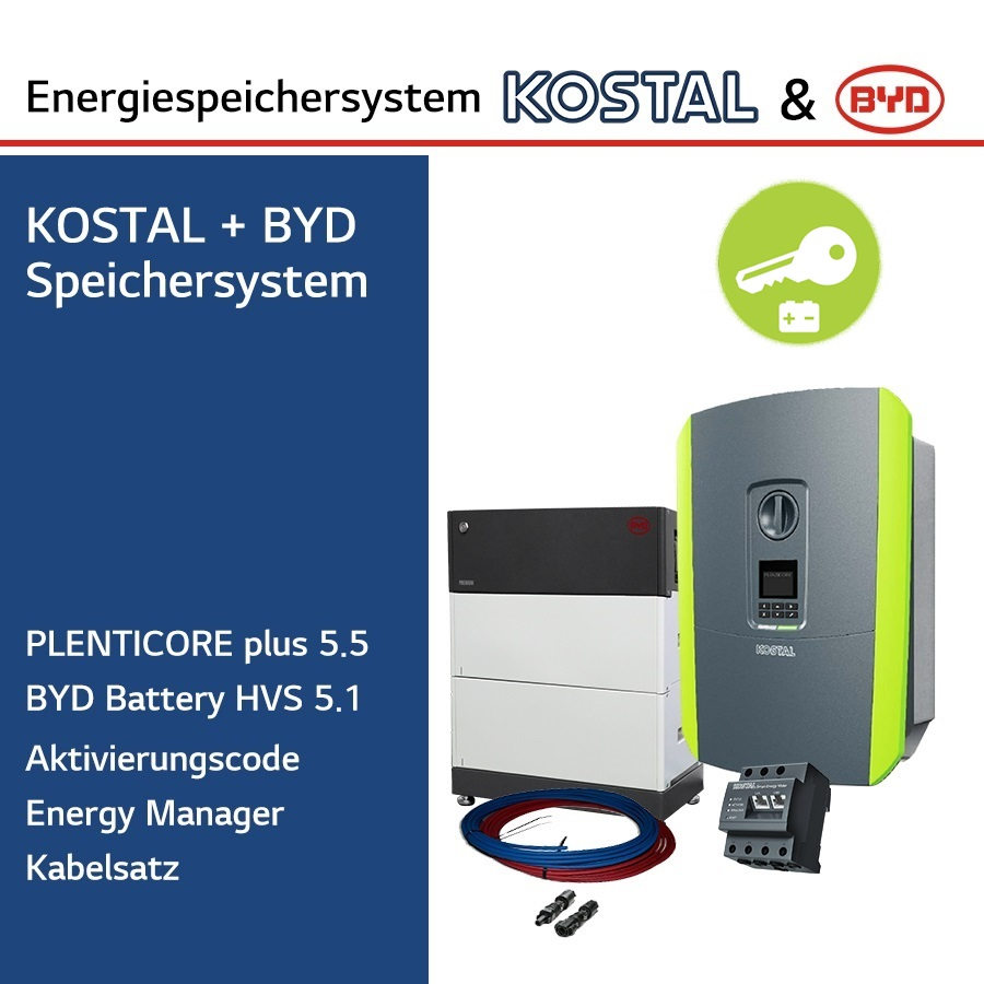 KOSTAL/BYD 3-Ph.Energiespeichersystem PLC5.5/H5.1