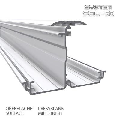 SOL-50 Standard XXL-Horizontalprofil 2m pressblank
